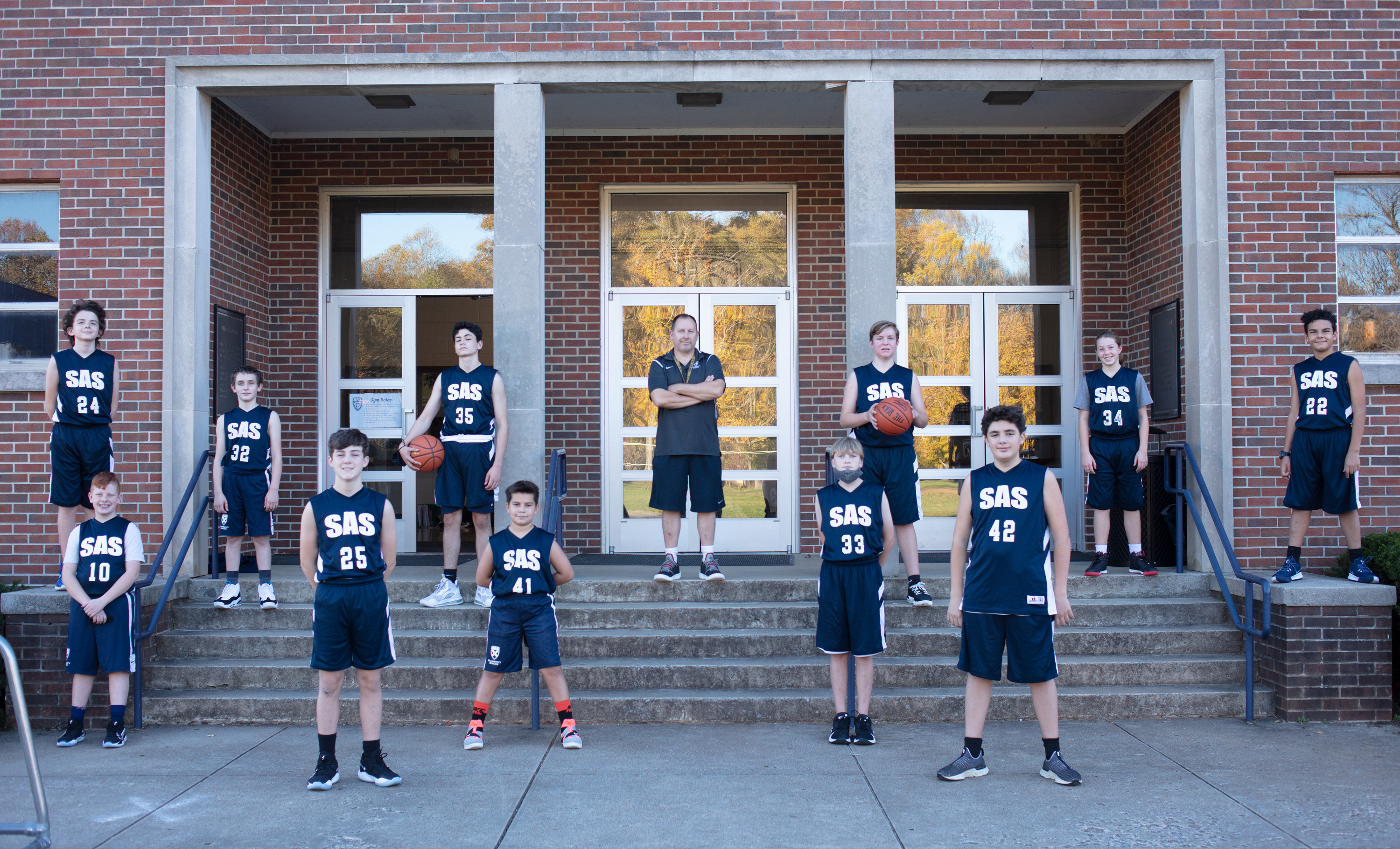 2020-2021 Middle School Boys' Basketball Team