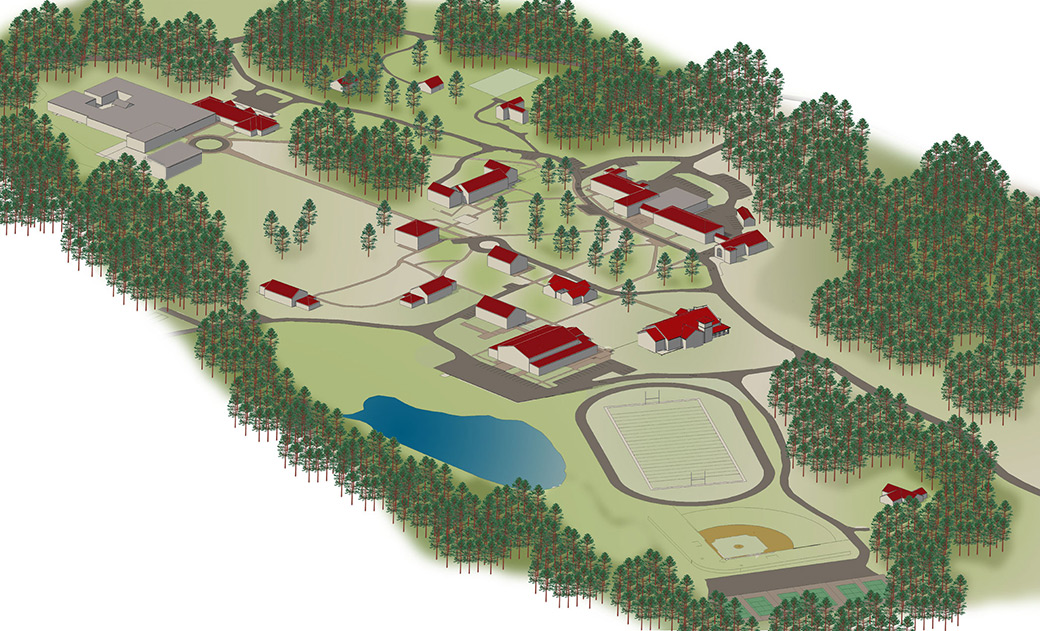 Red Mountain High School Campus Map.St Andrew S Sewanee School Campus Map